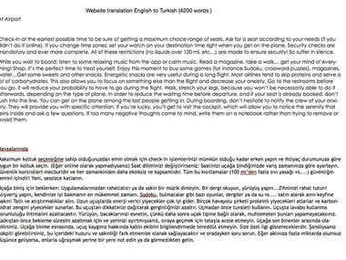 English To Turkish Website Translation