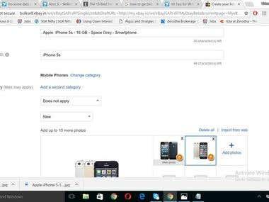 Ebay item listing