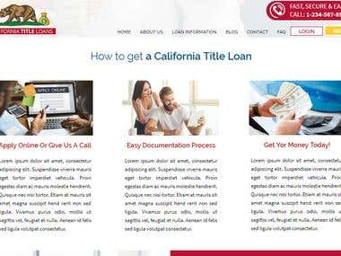 California Title Loan Website Design
