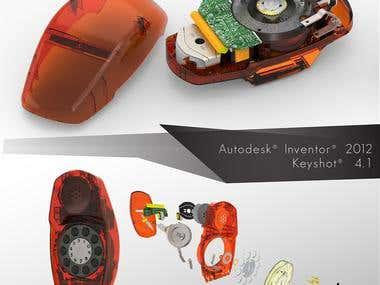3D Phones Rendering