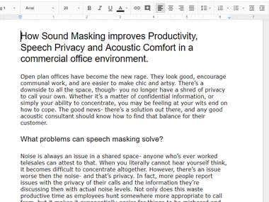 How Sound Masking improves.