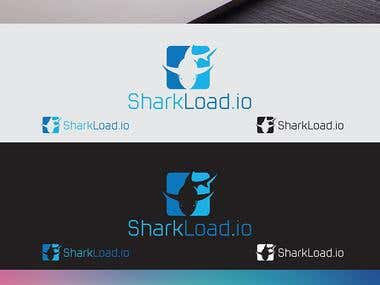 Sharkload.io Main Website Logo Design