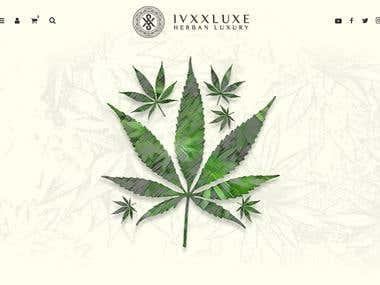 Cannabis theme homepage