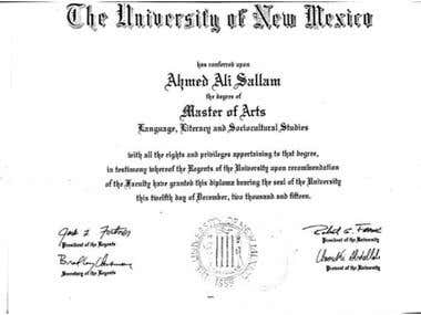 Masters of Arts in Language, Literacy, and Socio-Cultural