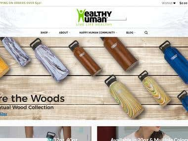 Website for Health human bottles - WordPress, Woo-commerce