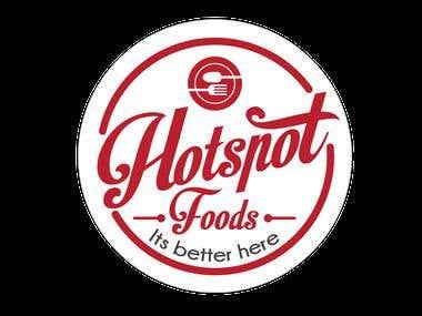HOT-SPOT FAST-FOOD LOGO