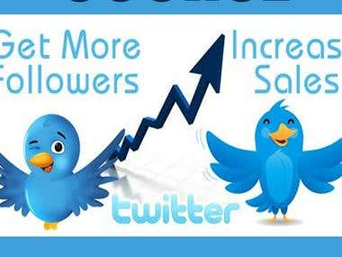 Twitter Marketing & increase real target followers.