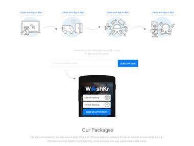 Washkr website portal