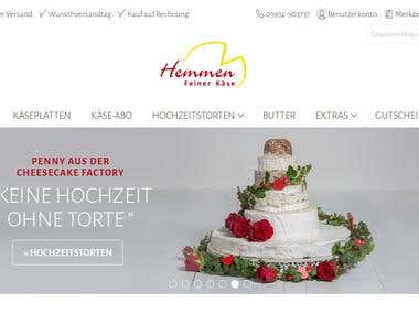 E-Commerce Website - http://2-test.feiner-kaese.de/index.php