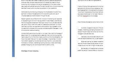 Article writting on cloud computing