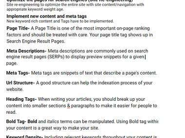 On=page SEO's Strategy