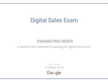 Digital Sales Exam