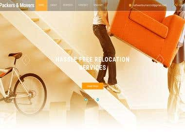 Website designing- AR Packers and Movers