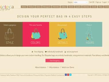 PHP E-Commerce site w/ Custom Attributes and Dynamic Preview