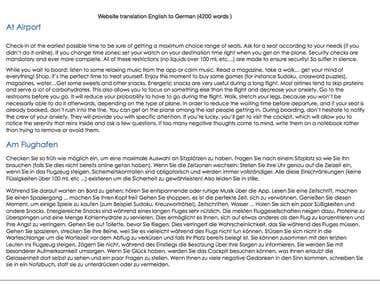 English To German Website Translation