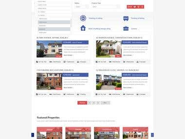 Website and UI design for Flynn real estate company