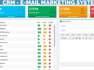 CRM - E-MAIL LISTING AND MARKETING SYSTEM