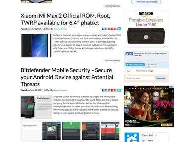 Tech news Wordpress Website