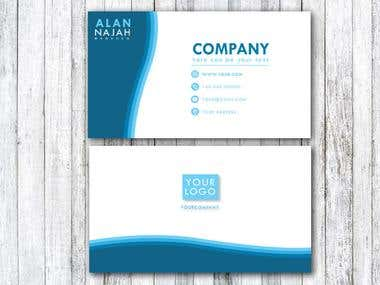 Blue Slim business card