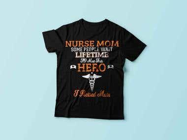 Nurse Mom T-Shirt Design
