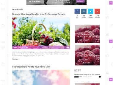 Health Fitness website