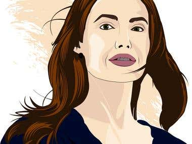 Angelina Jolie - Vector Art