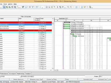 Project Scheduling Using Primavera P6 v 16.1