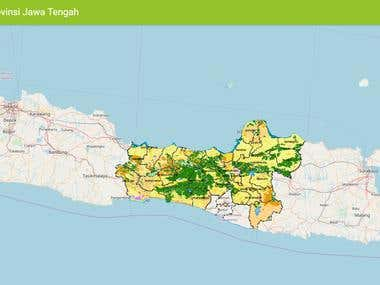 WebGIS for Forest and Agriculture Central Java Province