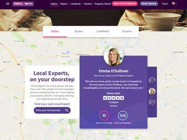 Real Estate Management Site- www.purplebricks.co.uk