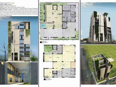 Architectural Layout Render