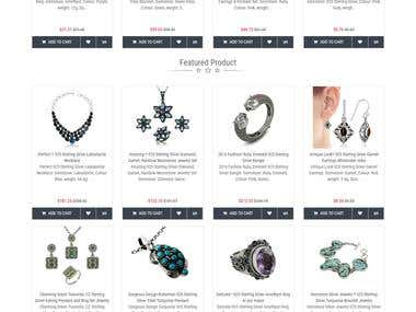 Open Cart Website for Jewelry