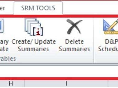 Self defined Ribbon Buttons in Excel