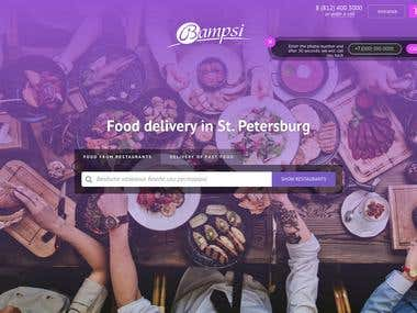 "Food delivery in St. Petersburg - ""BAMPSI"" - used Laravel"