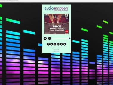 Radio Streaming and VAST Ads Audio Player
