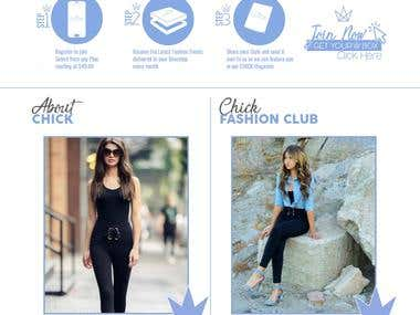 Chick By Glossy: eCommerce Website