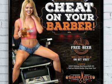 Poster Design for Saloon Cuts