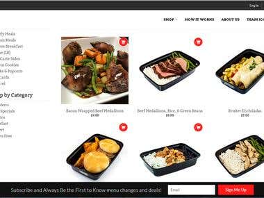 Wordpress website (iconmeals Business)