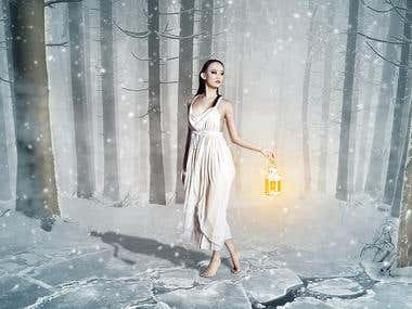 """Cold Night"" Photo Manipulation"