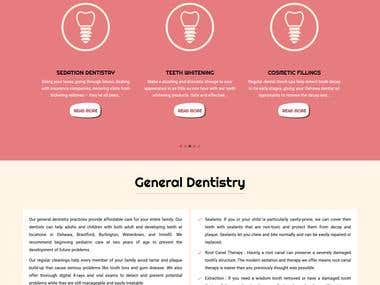 Website Design & Development : Dentistry Plus