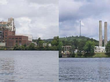 Before and After Lake Catherine Building