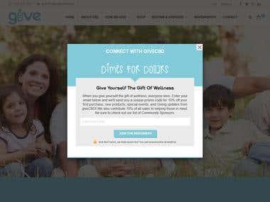 GIVECBD Ecommerce Website
