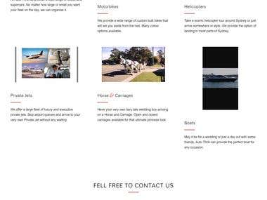 Wordpress Site & logo