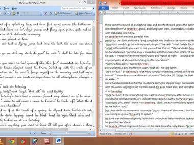 PDF to Word Typing