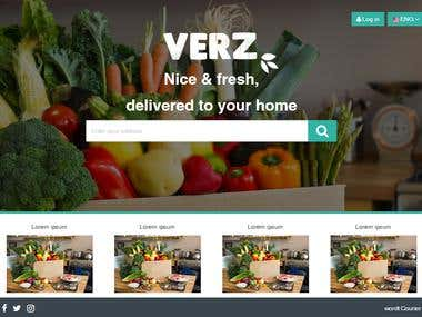 Web shop for Groceries