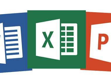 Microsoft Office (EXCEL, WORD, POWER POINT)