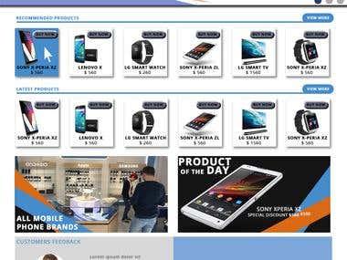WEBSITE MOCKUP | E-commerce website | Online sales