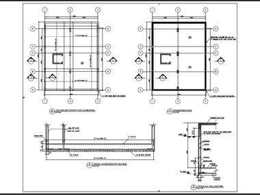 concrete drawings for a 4 story buidling