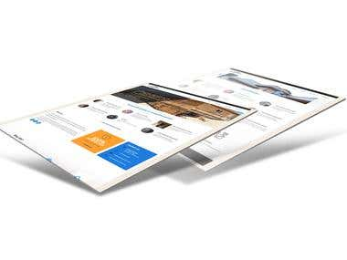 Creatively Designed website for a plastering business.