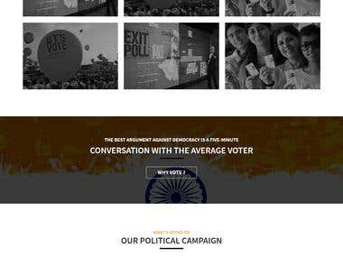 Website Design and Development : Getout2Vote