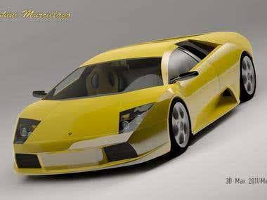 3D Modeling [Lamborghini murcielago]